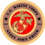 U.S. Marine Corps Custom Wall Tribute US Marines Corps