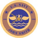 U.S. Navy Custom Wall Clock Tribute US Navy