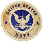 U.S. Navy Standard Desk Clock US Navy